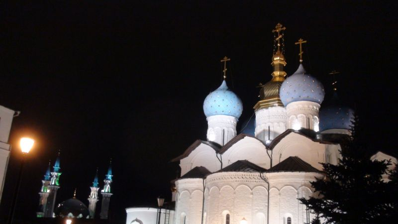 Annunciation cathedral and Kul Sharif Mosque