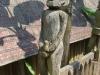 Symbols of fertility outside a tomb